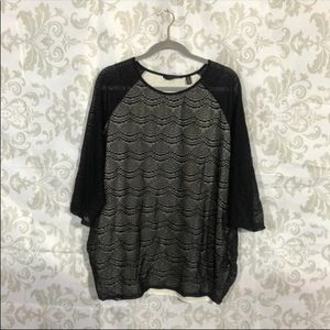 NWT Investments Black Lace Blouse